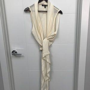 Winter Kate Iris 100% Silk Cream Vest